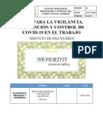 PLAN DE VIGILANCIA PREVENCION Y CONTROL COVID 19 PELUQUERIA