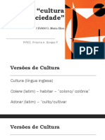 O tema cultura e sociedade
