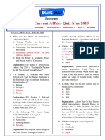 Monthly-Current-Affairs-Quiz-May-2019