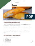 Arepa de Huevo _ La Receta Típica del Caribe Colombiano