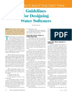 Guidelines for Water Softener Design