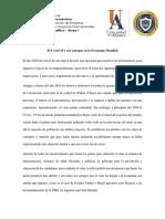 ENSAYO El Covid 19 y sus estragos en la Economía Mundial