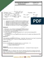 Correction du Devoir de Maison N°1 - Math - 2ème Economie & Gestion (2011-2012)  Mme GUESMIA Aziza