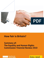 How Fair is Britain Commission's Review 2010 easyread