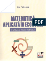 1. Matematica Aplicata in Economie