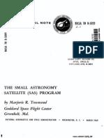 The Small Astronomy Satellite (SAS) Program
