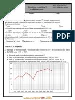 Devoir de Contrôle N°1 - Math - 2ème Economie & Gestion (2011-2012)  Mme GUESMIA Aziza