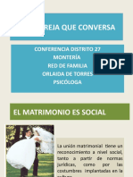 ESTUDIOS RED DE FAMILIA UNA PAREJA QUE CONVERSA