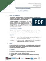 MANUAL DE PROCEDIMIENTO DE ASEO Y LIMPIEZA.