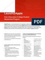 Launch@Apple Mentorship Program