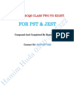 Science mcqs for pst & jest