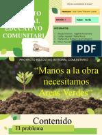 PROYECTO COMUNITARIO  AREAS VERDES