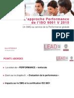 Approche performance de l'ISO9001 V2015 Un SMQ au service de la Performance globale (1)