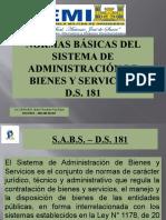 NORMAS BÁSICAS DEL SISTEMA DE ADMINISTRACIÓN DE BIENES
