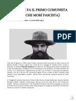 Veneziani Marcello - Cent'anni fa il primo comunista italiano (che morì fascista)