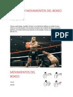 HISTORIA Y MOVIMIENTOS DEL BOXEO