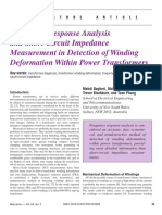 Frequency Response Analysis  and Short-Circuit Impedance Measurement in Detection of Winding Deformation Within Power Transformers