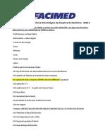 Lista de material DENTÍSTICA