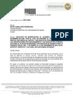SOLICITUD DE MODIFICACIÓN AL ACUERDO 044 DEL 2020 - SOCIA OSORIO VESGA