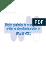 Ch3.2-Regles de conception et Critère de classification selon le RPA-99 [Mode de compatibilité]