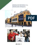 GRUPO 7 LA ADMINISTRACION MUNICIPAL Y LA PARTICIPACION CIUDADANA WORD APA