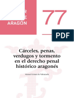 Cárceles, penas, verdugos y tormento en el derecho penal histórico aragonés