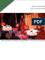 Tarea escolar, Libro de dirección de una escena de La más fuerte, de Strindberg