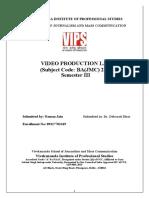 BAJMC Video Production Practical File
