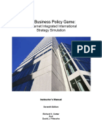 business policy game Manual