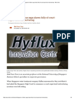Singapore's Hyflux saga shows folly of court-supervised restructuring - Nikkei Asia