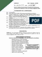 Forces Armees Paul Biya Signe Quatre Decrets Pour Lacces Au Grade Superieur Ok