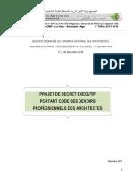 Projet de dcret excutif portant CDPA