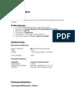 CV FORMAT EXMPLE