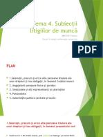 Tema 4 Subiecții litigiilor de muncă