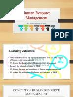 Human Resource Management  ppt lesson 1