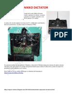 NIKKO DICTATOR Radio Control Car. Electronics, diagrams, signals, how to fix