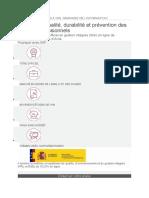 cours de qualité durable et prévention des risques professionnels