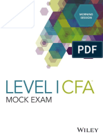 DA4387 Level I CFA Mock Exam 2018 Morning A