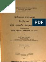 Palamas - Defense Des Saints Hesychastes (partie 1)