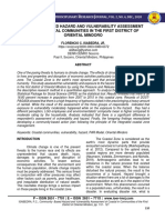 COMMUNITY-BASED HAZARD AND VULNERABILITY ASSESSMENT              OF THE COASTAL COMMUNITIES IN THE FIRST DISTRICT OF ORIENTAL MINDORO