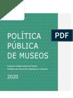Política de Museos 2020 - RevisiónViceFomentoRyP_18052020