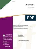 NF EN 1926-2007(天然石料检验方法 抗压强度的测定)