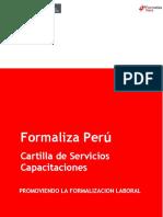 Cartilla de Capacitaciones a Usuarios Formaliza Perú