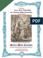 1 de Enero. Octava de la Natividad de Nuestro Señor Jesucristo. Guía de los fieles para la santa misa cantada. Kyrial Cum Iubilo y en apéndice De Angelis
