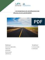 TP routes Mesure de la température de ramollissement des bitumes et de la pénétrabilité