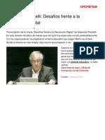 Alejandro Piscitelli Desafios Frente Revolucion Digital