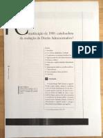 MEDAUAR - Constituição de 1988 catalizadora da evolução do DA