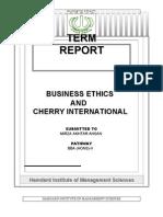 cherry internationalz (bus. ethics)