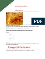 5 recetas de pasta imprescindibles