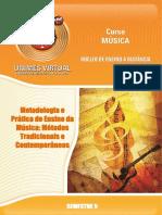 218_Metodologia e Prática de Ensino da Música_Métodos Tradicionais e Contemporâneos